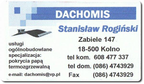 Dachomis - Stanisław Rogiński