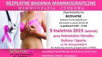 Czytaj więcej: Zapraszamy panie w wieku 50-69 lat na bezpłatne badania mammograficzne