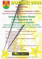 Dożynki 2008 - plakat
