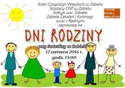 Plakat na Dni Rodziny w Zabielu 2016
