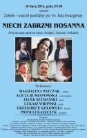 Plakat na koncert wokalny w ramach XXIII Festiwalu Muzyczne Dni Drozdowo - Łomża 2016