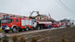 Pożar restauracji Dwór Rogiński - 2.01.2017r. | Fot. Kamil Jarzyło