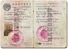 Rosyjski paszport z roku 1940 lub 1945