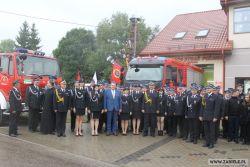 Przekazanie nowego samochodu pożarniczego dla OSP Zabiele